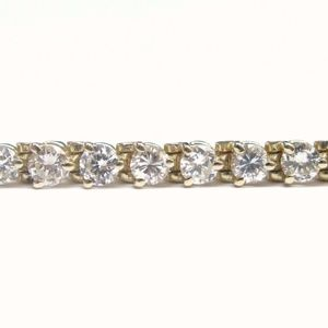 Jewelry - Fine Round Cut Diamond Tennis Bracelet 3-Prong Yel